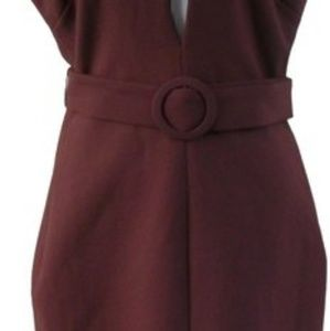 Mandarin Collar Sleeveless Open Front Dress